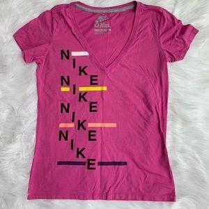 Nike Slim Fit Deep V Logo T-Shirt